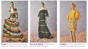 Acusan a Carolina Herrera de plagiar bordados del Istmo, Saltillo...