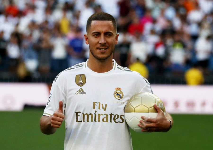 Real Madrid presenta a Eden Hazard