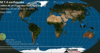 Sismo de magnitud 7.4 en Nueva Zelanda; hay alerta de tsunami