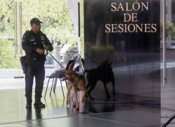 Refuerzan seguridad en Senado para evitar atentados