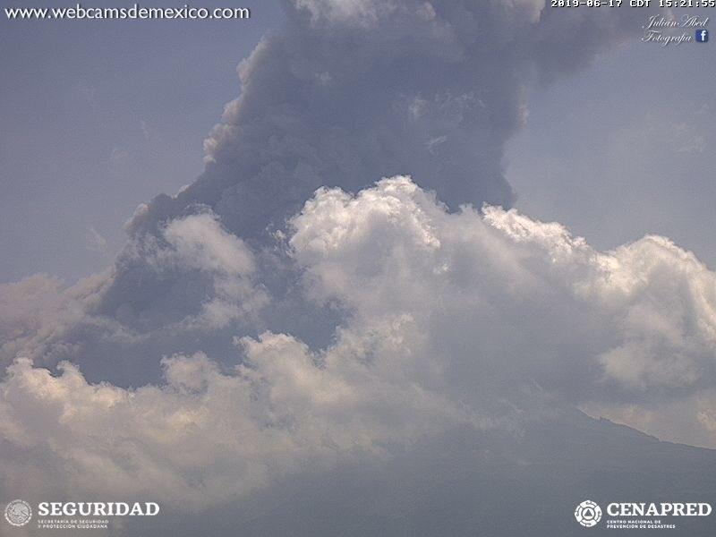 Registra Popocatépetl cuarta explosión