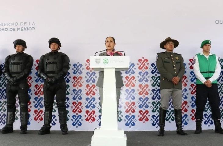 Presenta Sheinbaum grupo que sustituye a los granaderos