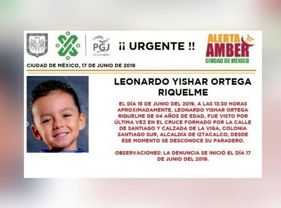 Alerta Amber: Ayuda a localizar a Leonardo Ortega, desaparecido en Iztacalco