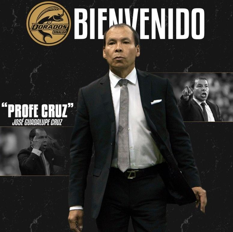 José Guadalupe Cruz, nuevo entrenador de los Dorados