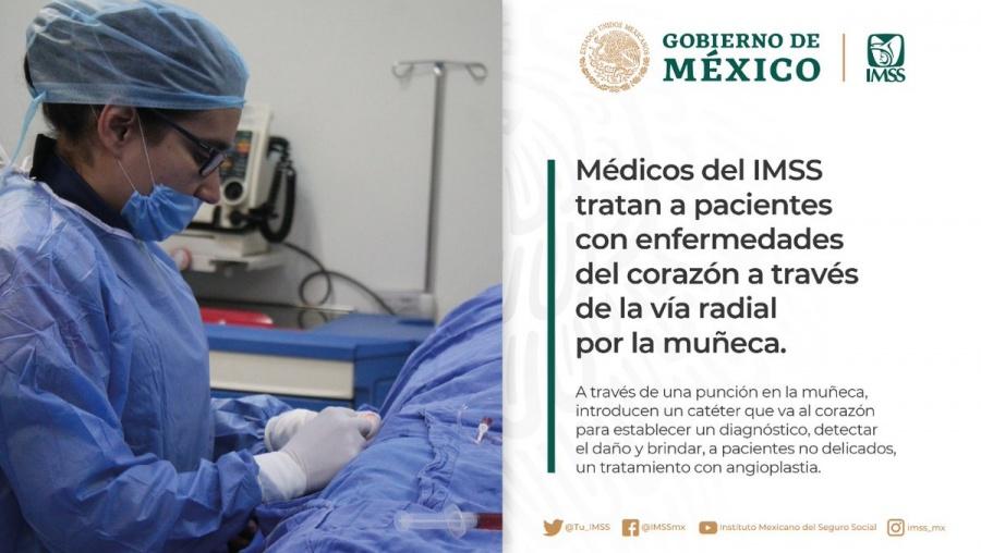 El IMSS trata a pacientes del corazón con nueva técnica