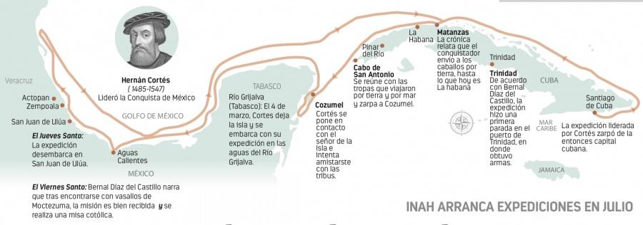 A 15 metros bajo el mar de Veracruz buscan navíos de Cortés