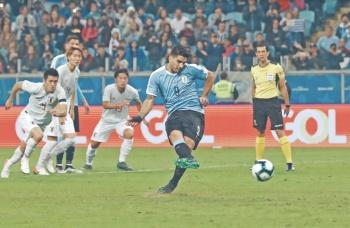 Uruguay iguala la velocidad de Japón y rescata empate