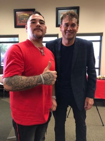 Faitelson se fotografía con Andy Ruiz y manda mensaje a Cuauhtémoc Blanco