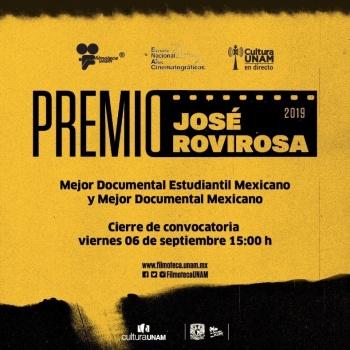 Premio José Rovirosa tendrá festival en línea