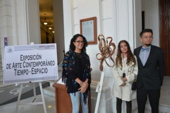 Inauguran en el Congreso local la exposición de Arte Contemporáneo Espacio Tiempo