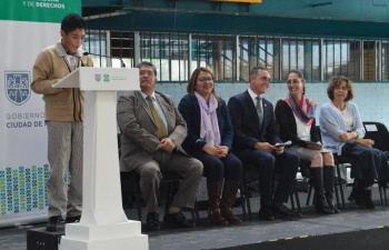 """Sheinbaum y Rubalcava entregan programas """"Mejor Escuela"""" y """"Útiles y Uniformes Escolares 2019"""" en Cuajimalpa"""