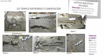 En la ex Blioteca Nacional extraen conchas, huesos...