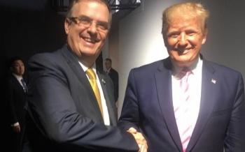 Ebrard y Trump se dan la mano en cumbre del G-20