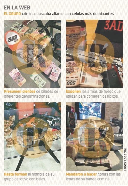 Banda de Á. Obregón Línea 13 presume dinero, balas...