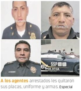 Detienen a 7 policías por robo, extorsión...