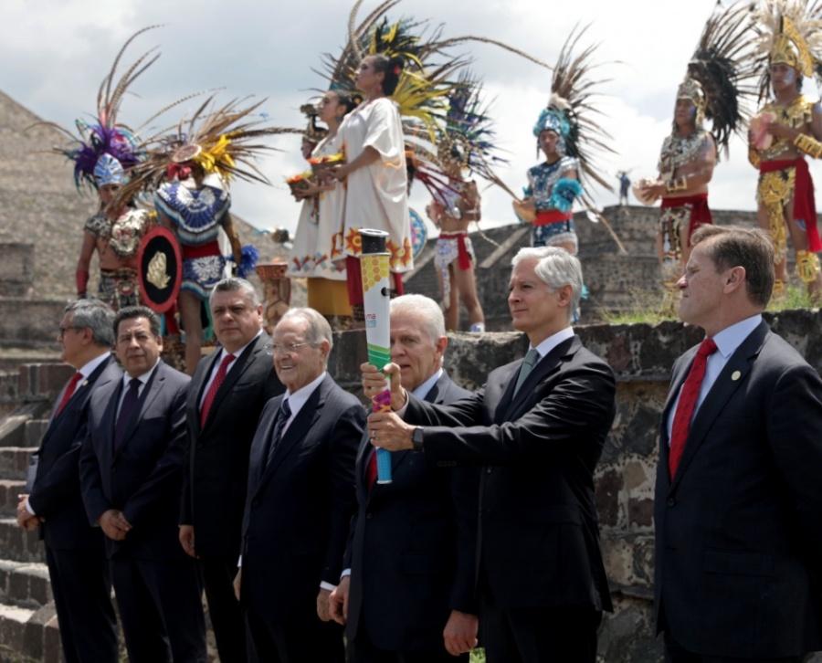Encienden Fuego Nuevo en Teotihuacán para Panamericanos Lima 2019