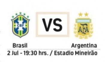 Protagonizan Brasil y Argentina el Clásico 106
