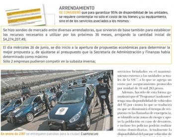 Aplican en Fast Track renta de patrullas