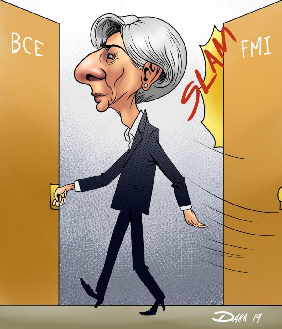 Lagarde deja el FMI, se va al Banco Central Europeo