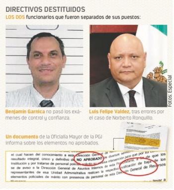 Omar García releva a mandos por fallas