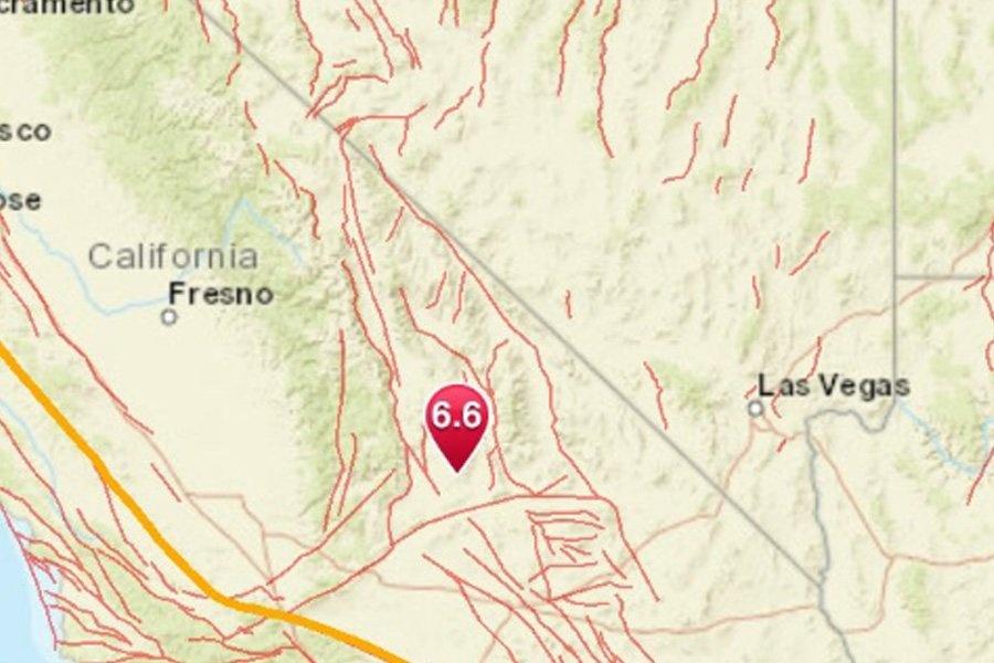 Se registra sismo de 6.4 en zona desértica de California