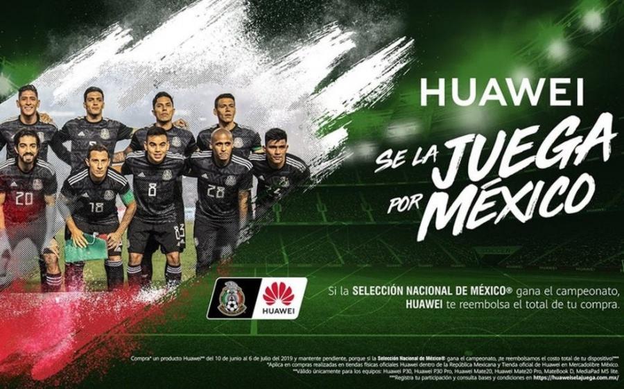 Huawei cumplirá apuesta de reembolso tras triunfo de México en Copa Oro