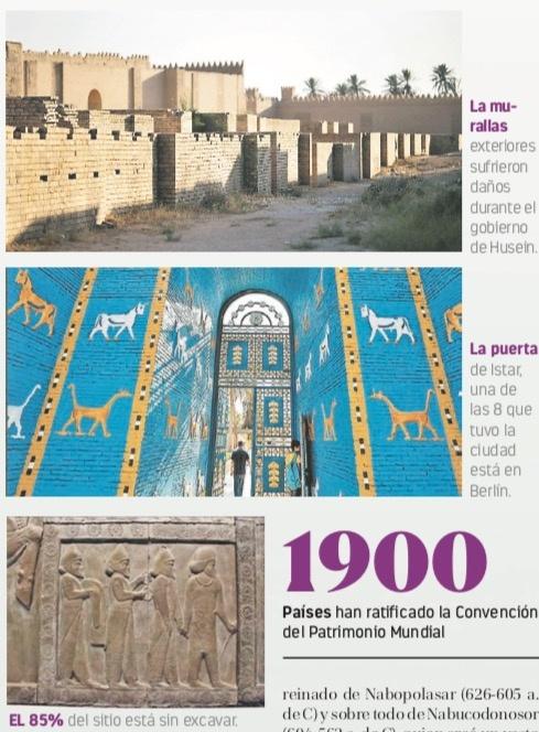 Irak invierte 50 mdd para entrar a lista de la Unesco