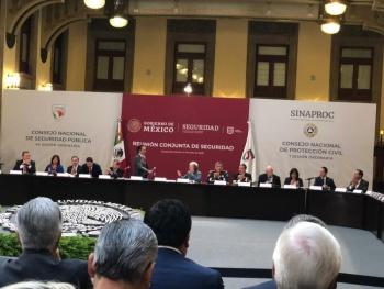 Se lleva a cabo el Consejo de Seguridad Pública en Palacio Nacional