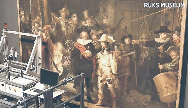 Restauran un Rembrandt en vivo