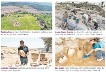Descubren la ciudad filistea donde el Rey David se escondía