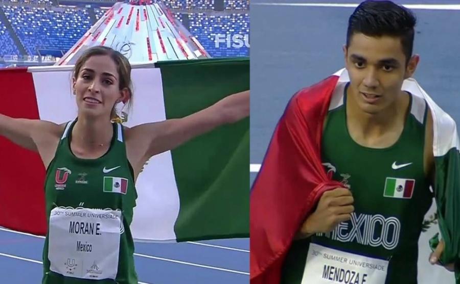 Paola Morán y Valente Mendoza, ganan oro en Universiada Mundial