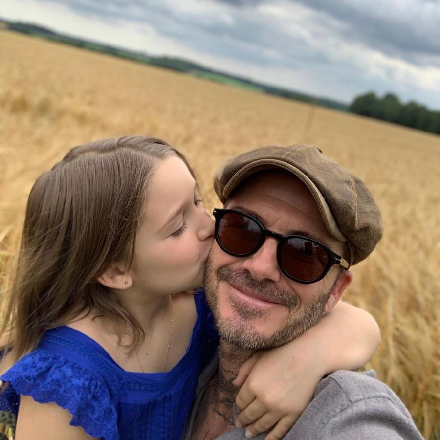 Los sentimientos encontrados de David Beckham en el octavo cumpleaños de su hija Harper