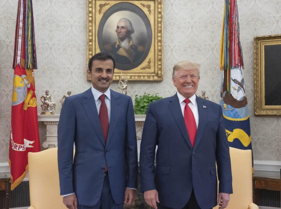 Destacan Emir de Qatar y presidente de Estados Unidos relación sólida de cooperación estratégica