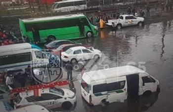 Lluvia deja inundaciones en varios puntos de Iztapalapa