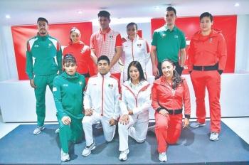Atletas lucen nuevo uniforme Panamericano