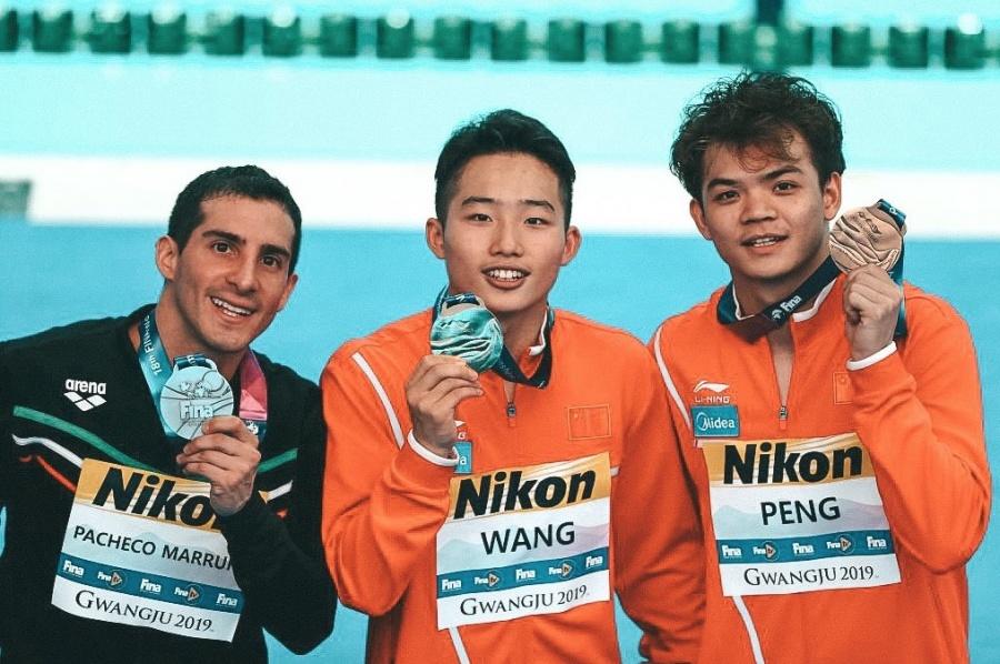 Rommel Pacheco se cuelga la plata en Mundiales de Natación