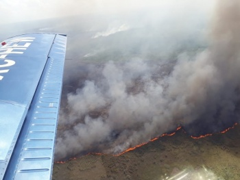 Se incendia reserva Sian Kaan en Quintana Roo
