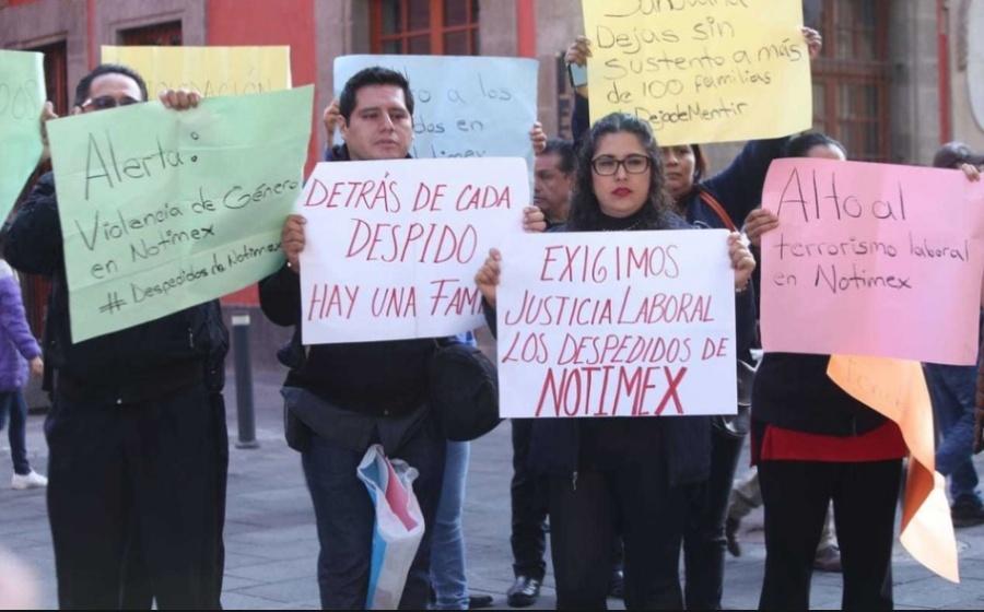 Excorresponsales de Notimex exigen respuesta laboral