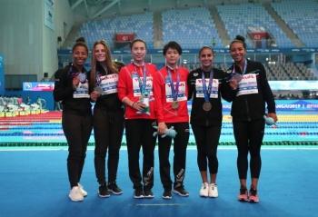 Clavadistas mexicanas ganan bronce en Mundial de Natación