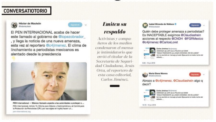 La CNDH ya indaga el mensaje intimidatorio contra periodista