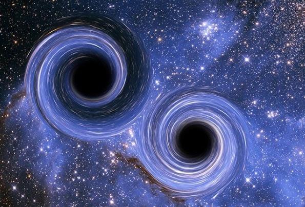 Descubren dos agujeros negros supermasivos a punto de colisionar