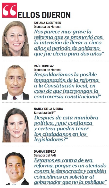 Hasta Morena pide no publicar la Ley Bonilla
