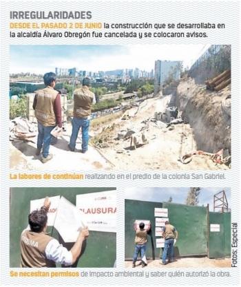 Alcaldía de Sansores deja operar obra clausurada