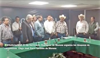 Morenistas respaldan bloqueos de campesinos en 14 entidades