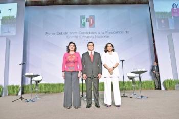 Agarrón entre Ivonne Ortega y Alito, en debate Priista