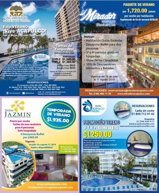 Acapulco registra una ocupación hotelera cercana al 80% está temporada
