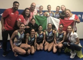 Equipo mexicano culmina en décimo sitio en natación artística de Mundiales