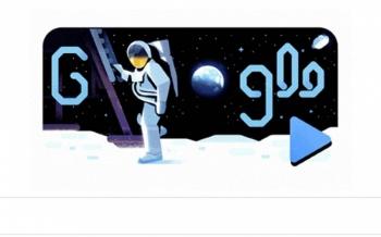 Doodle recrea llegada del hombre a la Luna