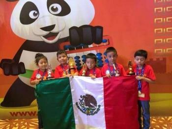 Niños hidalguenses obtienen triunfo en concurso de aritmética en China