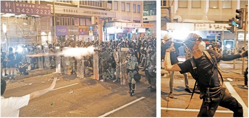 Hongkoneses rompen cerco policial y se enfrentan con autoridades